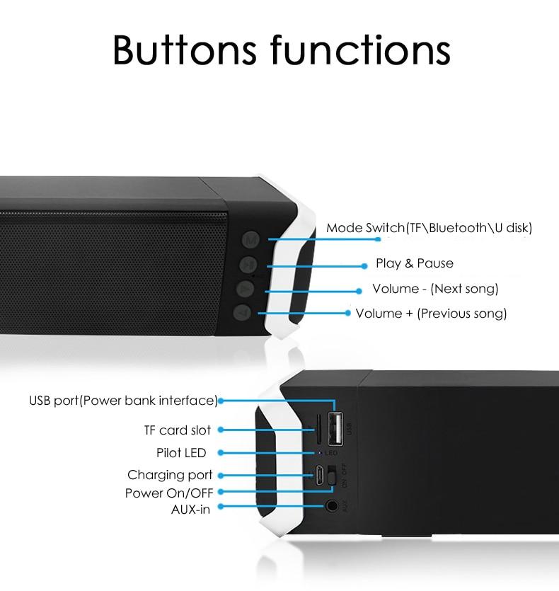 Nouveau Home TV Bluetooth haut-parleur sans fil 2.0 Home cinéma Surround Boombox amplificateurs Subwoofer boîte de son pour TV PC téléphone haut-parleurs