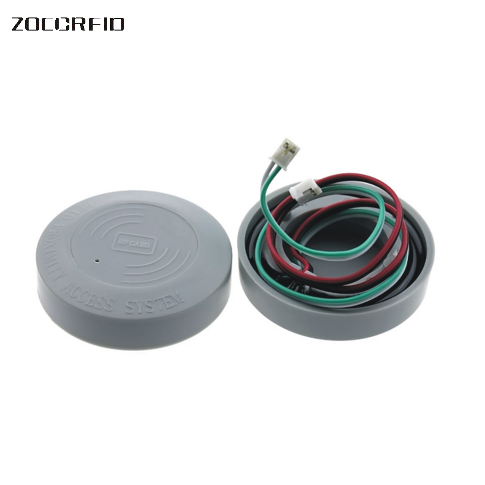 Free shipping 125k RFID 52mm glue waterproof card reader/ aerial coil circle lock rf card induction coil 125k waterproof glue square rf access control reader rfid antenna coil induction coil slim compact