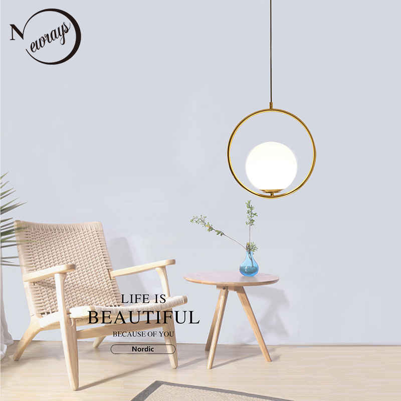 Nordic circled iron glass pendant light LED E27 loft modern hanging lamp with 2 colors for parlor bedroom lobby hotel restaurantNordic circled iron glass pendant light LED E27 loft modern hanging lamp with 2 colors for parlor bedroom lobby hotel restaurant