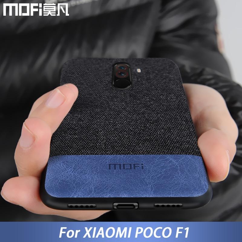 Für Xiaomi POCOPHONE F1 fall abdeckung globale POCO F1 zurück abdeckung silikon stoff schutzhülle MOFi original POCOPHONE F1 fall
