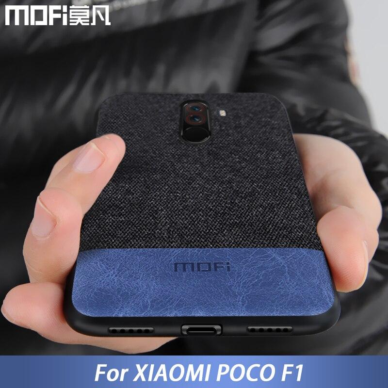 Para tampa do caso Xiaomi POCOPHONE F1 global POCO F1 tecido de volta capa de silicone protetora caso MOFi original POCOPHONE F1 caso