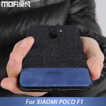Pour Xiaomi POCOPHONE F1 housse de protection globale POCO F1 couverture arrière en tissu de silicone étui de protection MOFi étui d'origine POCOPHONE F1