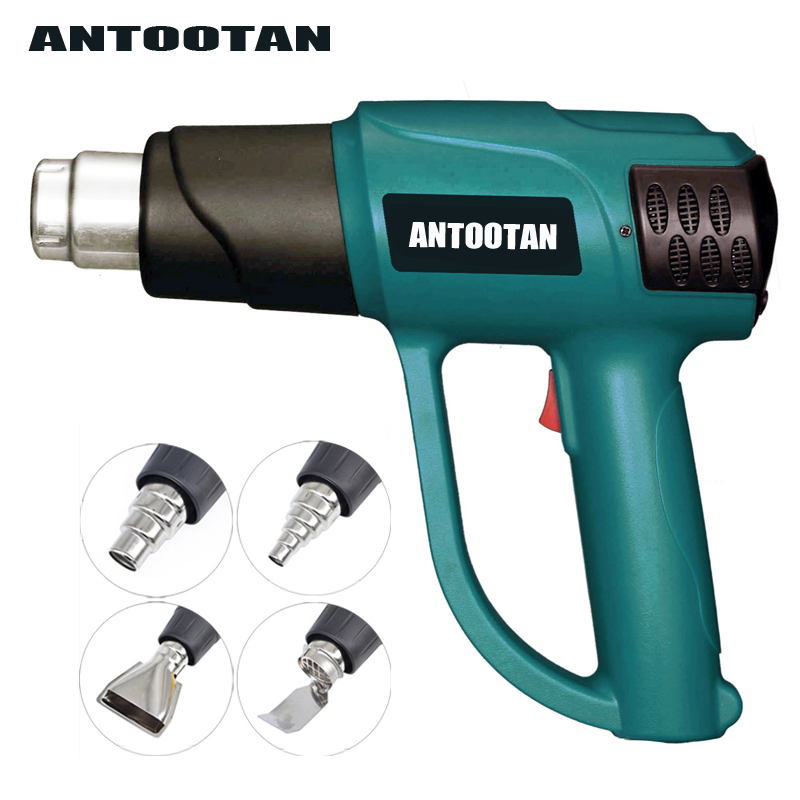 2000W adustable Hot air Gun Thermoregulator LCD Display 220V EU Plug Heat gun Smart Control Shrink Wrapping Heater Nozzle