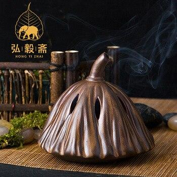 Hong Yizhai Chen incense incense burners stove ceramic antique incense burner incense ornaments lotus hong yizhai chen incense incense burners stove ceramic antique incense burner incense ornaments lotus