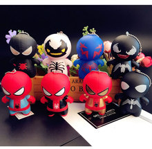 Marvel The Avengers Figures Superheros Red Spiderman Black Spiderman Venom Keychain Toys 2018 New Anti Venom Figurines Keyring