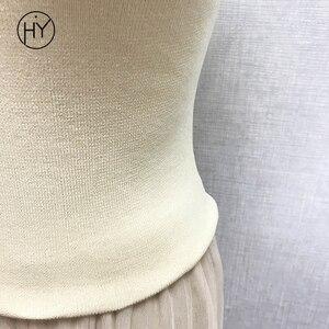Image 5 - 니트 탱크 탑 여성 섹시한 콜드 숄더 블랙 솔리드 캐주얼 탱크 탑스 티셔츠 민소매 여성 티즈 피트니스 top 2018 summer