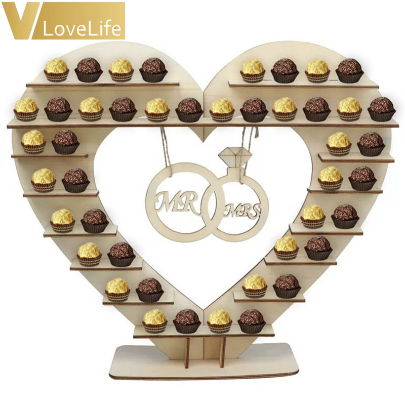 Us 10 59 22 Off Rustic Wedding Diy Decoration Cake Stand Candy Pop Ferrero Rocher Chocolate Party Table Decorations In