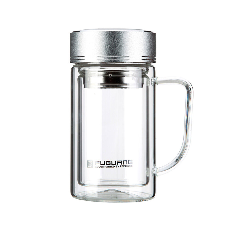 Clear Gl Jar With Handle Drink Water Bottle Tea Infuser Filter Coffee Tumbler Travel Mug Double Teapot Layer Fuguang 320ml On Aliexpress Alibaba