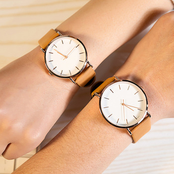 Couple Watch Khaki White For Male And Female