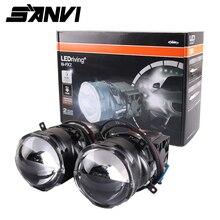 Sanvi 3inches 38w 6000K PXZ Bi LED Projector  Lens Headlight Auto Headlamp for Car Styling Retrofit Kits