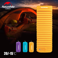 Naturehike NH18Q001 D Outdoor Push Inflatable Camping Mat for Tent Cold Waterproof Sleeping Pad Picnic Folding Mattress Winter