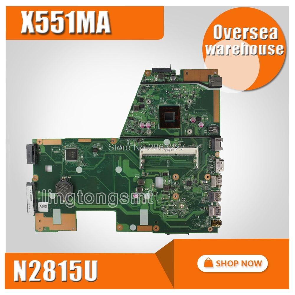 X551MA Motherboard REV2 0 N2815 CPU For ASUS D550M F551M X551MA Laptop Motherboard X551M X551MA mainboard