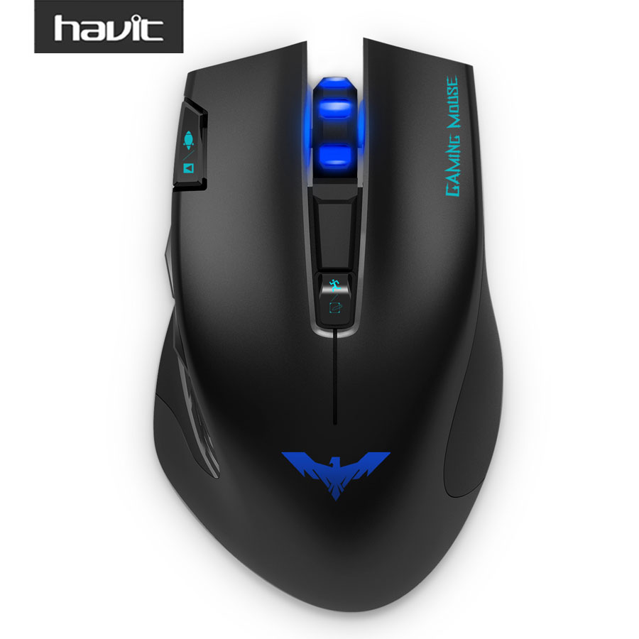 HAVIT 2.4Ghz Wireless Gaming Mouse with 2400 DPI 7 Button USB Receiver 3 Led light For PC Laptop Computer Gamer Mouse HV-MS978GT