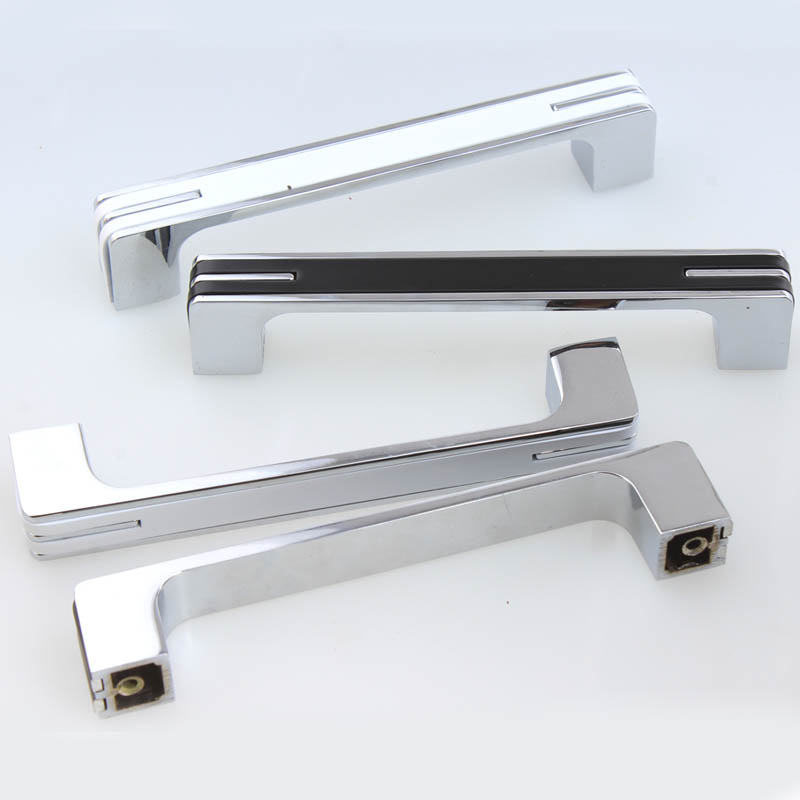 320mm 160mm silver black wardrobe kitchen cabinet door handles 32mm 96mm silver white drawer cabinet pulls knobs modern fashion