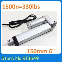 Electric Linear Actuator 12v 150mm(6′) Stroke 1500N DC Motor Linear Motion Controller with Limit Switch-1PC