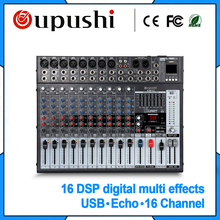 OUPUSHI EM16 Best selling Digital Echo Mixer Amplificador 16 Channel Mixer de Áudio Profissional