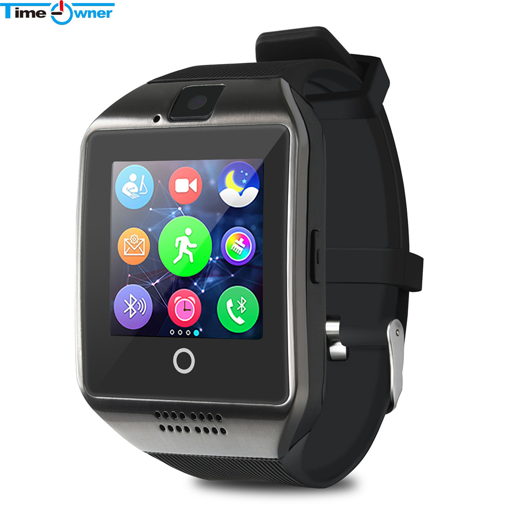 Time Owner TW-Q18 Smart Watch Camera TF SIM Card Phone Watch Sync SMS Facebook Twitter Bluetooth Smartwatch for Samsung Android