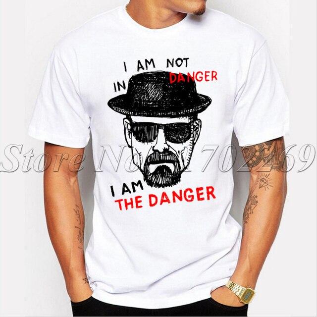 הכי חדש גברים אופנה לשבור רע חולצה הייזנברג Iam את denger רטרו מודפס הברנש חולצות קצר שרוול מזדמן טי