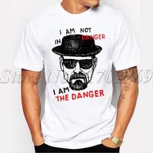 Newest Men fashion Breaking Bad t shirt Heisenberg Iam the denger retro printed hipster tops short sleeve casual  tee