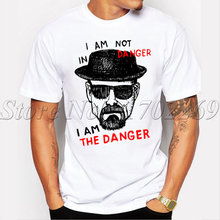 Newest Men fashion Breaking Bad t-shirt Heisenberg Iam the denger retro printed hipster tops short sleeve casual tee(China)