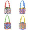 Creative Cute EVA Knitting Woven Basket Toys Baby Kids Children DIY Handmade Colorful Educatioanal Early Learning Gifts
