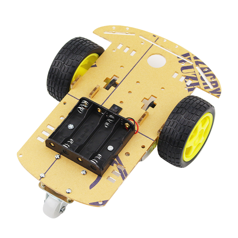 DIY Smart Robot Car Chassis Acrylic Board Speed Encoder Battery Box Tires Gearmotor for Arduino Raspberry