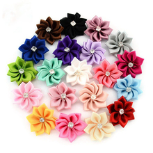 Rhinestone Handmade 20 Colors 20PCS Crystal DIY Flowers Home Decoration Flower Artificial Bouquets No Clips Bows