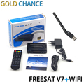 5 unids Freesat V7 con 1 unids WIFI DVB-S2 HD receptor de TV por satélite Youtube potencia VU CCcam Newcamd envío gratis no apoyo IPTV