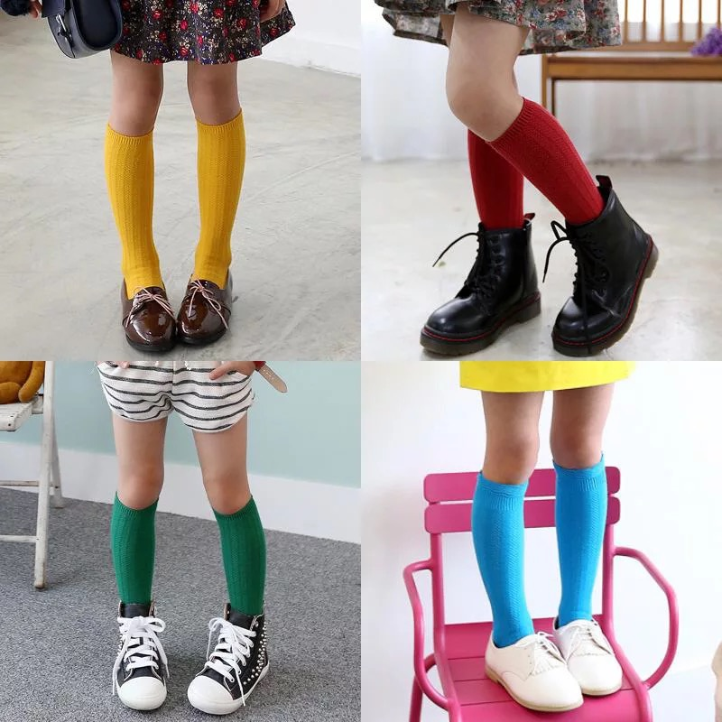 Kids-Long-Socks-Knee-High-toddler-Girls-Boot-Sock-Leg-Warmer-Cute-Candy-color-Baby-Solid-Cotton-Sock-for-baby-Girls-Sloth-socks-2