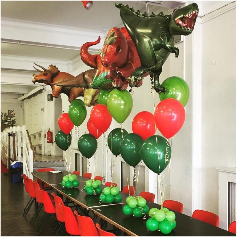 11pcs Dinosaur Foil Balloons Big Dragon Helium Globos