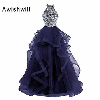 Vestidos de Fiesta Largos Elegantes de Gala 2020 Open Back Beadings A-line Floor Length Long Prom Dresses for Women Party Gowns - DISCOUNT ITEM  30 OFF Weddings & Events