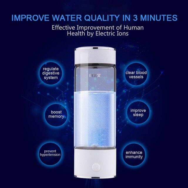 TINTON LIFE SPE/PEM Technology Hydrogen Water Generator 420ml Cup Body Alkaline Water Ionizer Bottle Hydrogen Rich Water Maker Water Filters