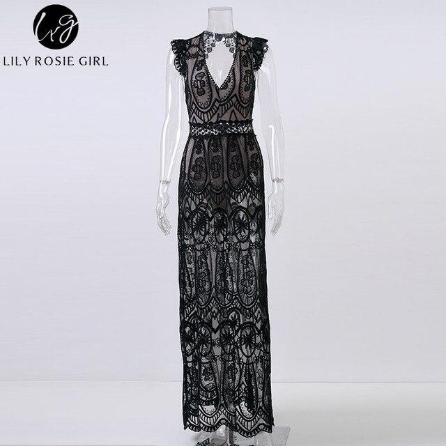 Hollow Out White Lace Dress Women Spring High Waist Sleeveless Backless Dress Christmas Maxi Long Dress Vestidos