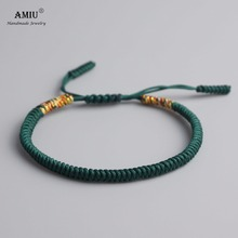 19 Colors Tibetan Buddhist Love Lucky Charm Tibetan Bracelets & Bangles For Women Men Handmade Knots Rope Budda Bracelet