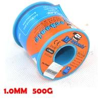 MECHANIC 63/37 Tin Lead 1.0mm Diameter Rosin Core Flux Solder Wire Reel Welding Soldering Welding repairs essential 500G