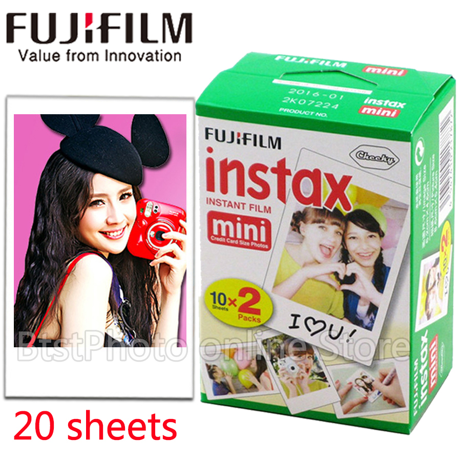 Original Fuji Fujifilm instax mini 8 film 20 sheets white Edge film for instax Instant Camera mini 8 7s 25 50s 90 photo paper 100 sheets high quality original fujifilm instax mini 8 film for 7s 25 8 50s 90 polaroid instant camera mini film white edage