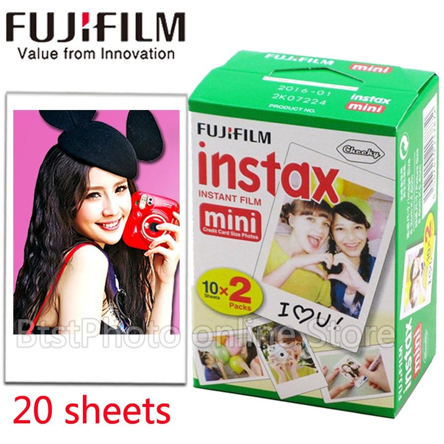 Original Fuji Fujifilm instax mini 8 film 20 sheets white Edge film for instax Instant Camera mini 8 7s 25 50s 90 photo paper fujifilm instax mini 8 white