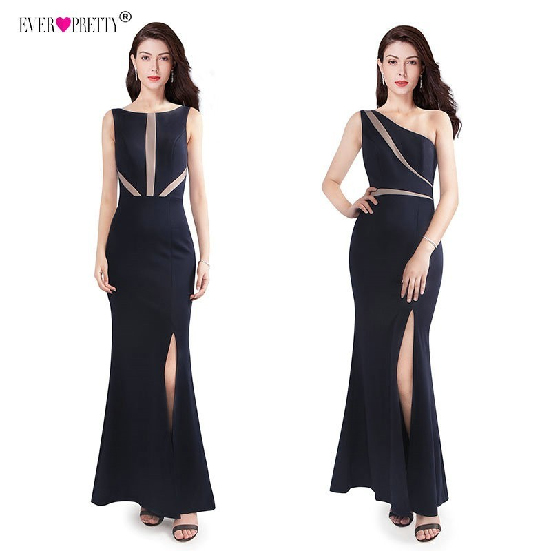 Robe De Soiree 2019 Ever Pretty EZ07531NB New Elegant Mermaid Long Formal   Evening     Dress   With Side Split Sexy Backless Party Gown