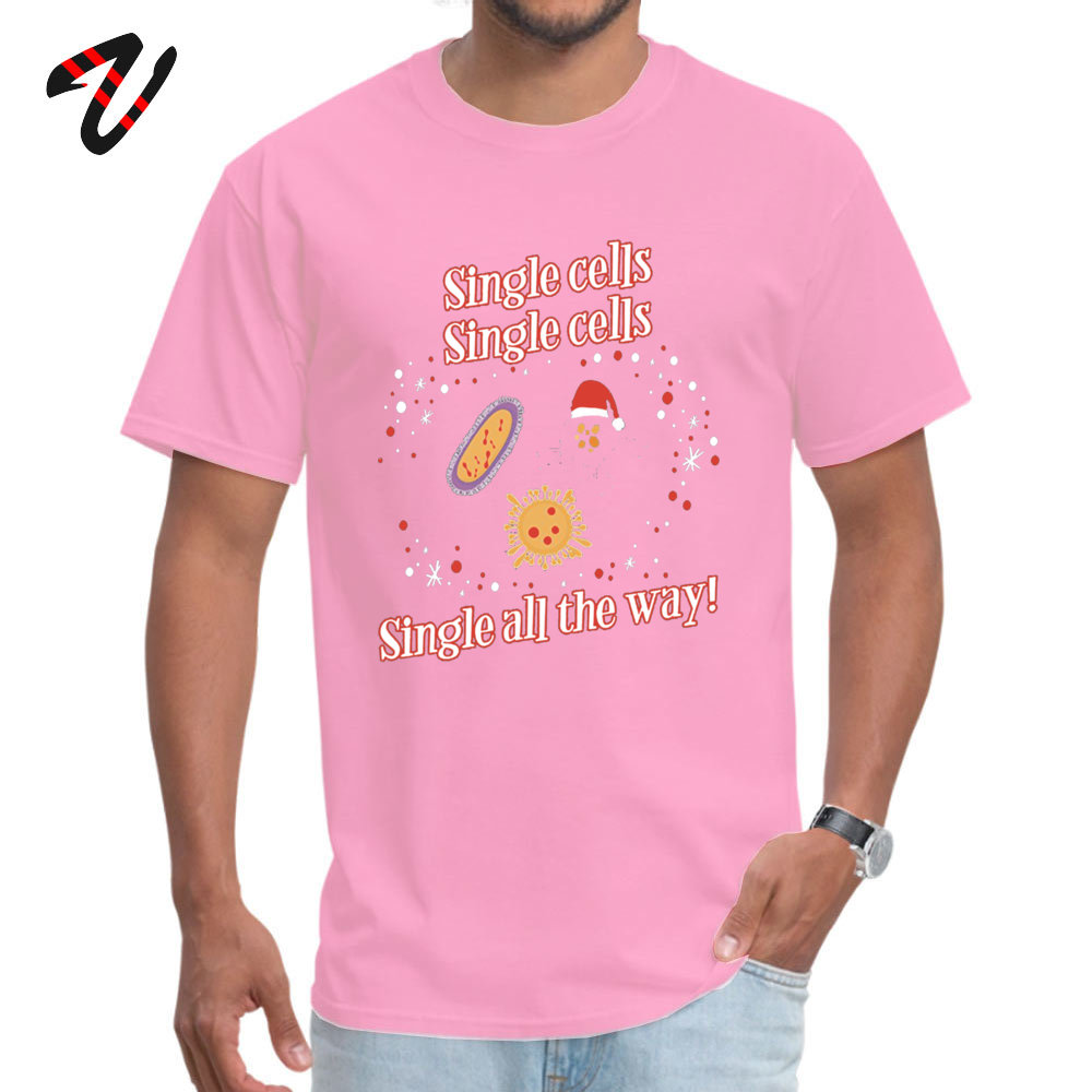 Fashionable Normal Leisure Short Sleeve _black T Shirt Summer/Autumn Round Neck Cotton Tops Shirts for Men Top T-shirts Casual Funny Christmas Biology T Shirts Gifts for Wom pink
