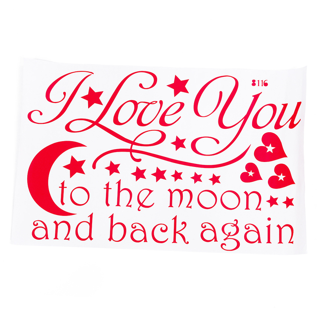 LOVE Quotes Wall Decor Wall Art I LOVE YOU To The Moon And Back Wall ...
