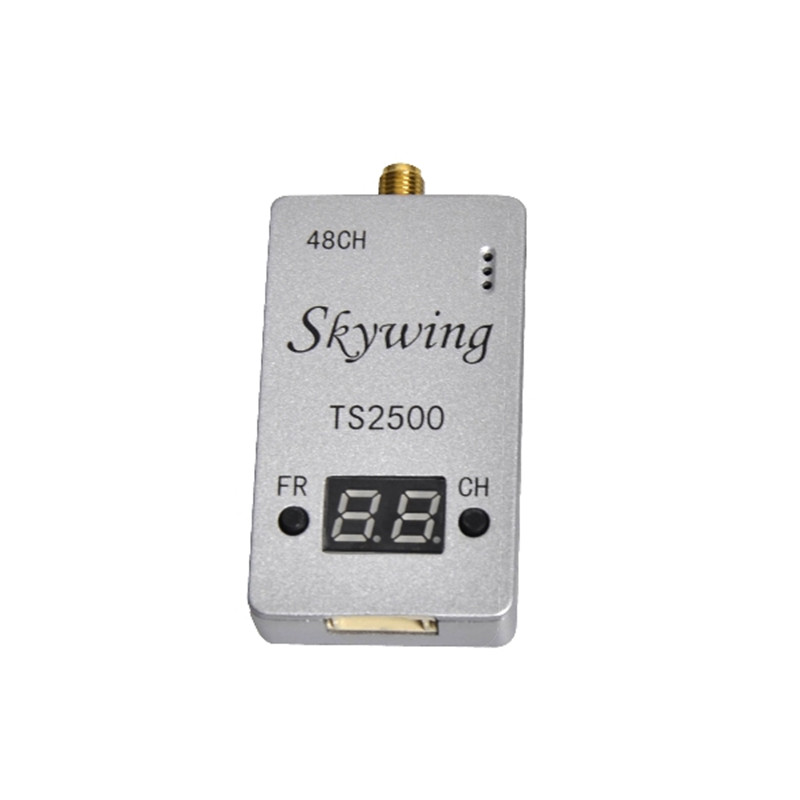 New Skywing TS2500 5.8G 2500mW 48CH AV Transmitter FPV VTX For FPV For RC Multirotor Parts new boscam fpv 5 8g 5 8ghz 2000mw 2w 32 channels wireless av transmitter automatic signal serch tx58 2w for fpv support fatshark