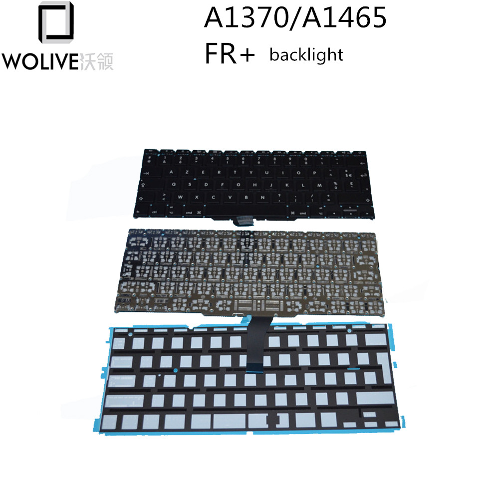 Wolive Brand New For font b MacBook b font Air 11 A1370 A1465 AZERTY FR French