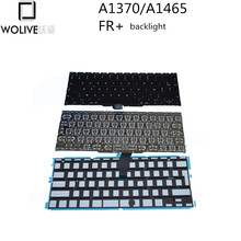 Wolive Brand New For MacBook Air 11″ A1370 A1465 AZERTY FR French keyboard 2010 2011 Years With backlight