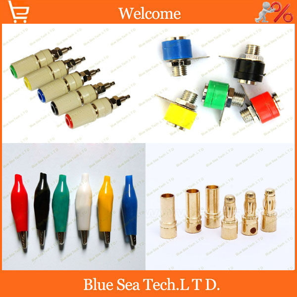 Good quality gold plating copper banana socket plug Alligator clip M5 socket mix color Diversified Products