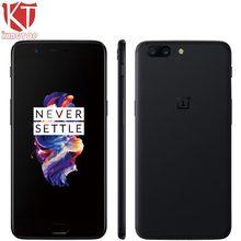"D'origine OnePlus 5 Mobile Téléphone Snapdragon 835 Octa base 6 GB RAM 64 GB ROM 5.5 ""Android 7.0 20MP 3300 mAh NFC 4G LTE Anti-fingerprit ID"