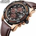 JEDIR Luxury Watch Men Military Sport Leather Wristwatch Chronograph Luminous Clock Waterproof Quartz Watch relogio masculino