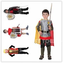 2017 Hot sale Roman knight cosplay costume for boy Kids halloween costumes children party cosplay costume M-XL(China)