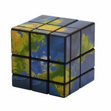 3x3x3 Mirror Blocks Map Sticker Magic Cube Puzzle Speed Cube 57mm