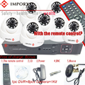 8 Canais H.264 DVR CMOS 800TVL Câmera Dome IR e IR Sistema de Câmera 8CH Sistema De CFTV 8 CH Canal DVR KIT