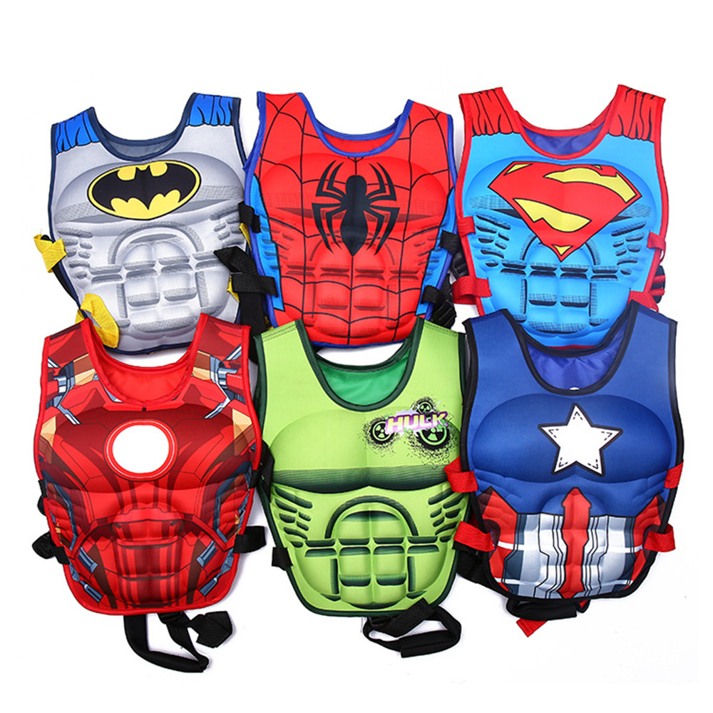 cosplay Cartoon life vest life jacket children life vests boating pesca survive kids water swimwear Bubble swimsuit costumes